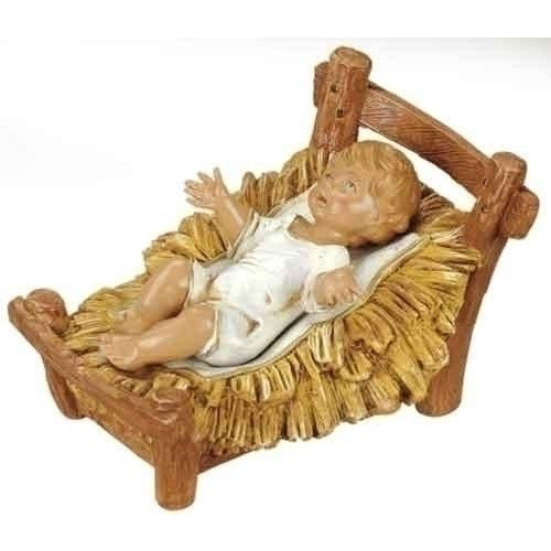 "Jesus with Crib - Fontanini® 12"" Collection"