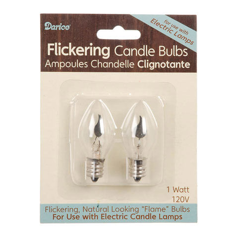 Set/2 Flickering Flame Bulbs - Landscape Compatible with Fontanini