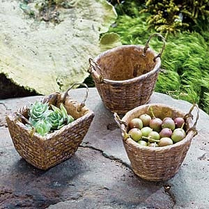 Set/3 Baskets - Landscape Compatible with Fontanini