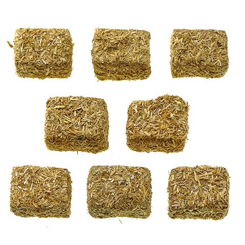 Set/8 Natural Hay Bales - Landscape Compatible with Fontanini