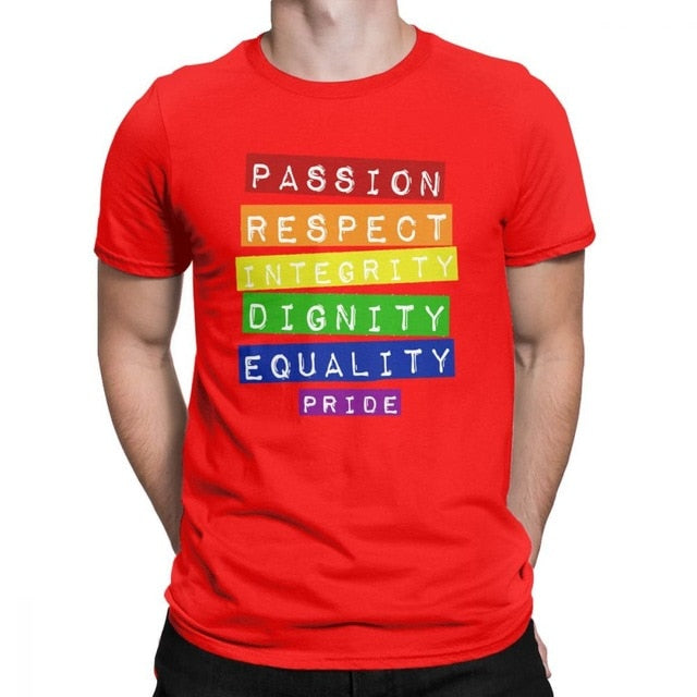 a75cfc68c8 ... Load image into Gallery viewer, APEXLGBT Gay Pride T Shirts Men  Equality LGBT Lesbian Rainbow ...