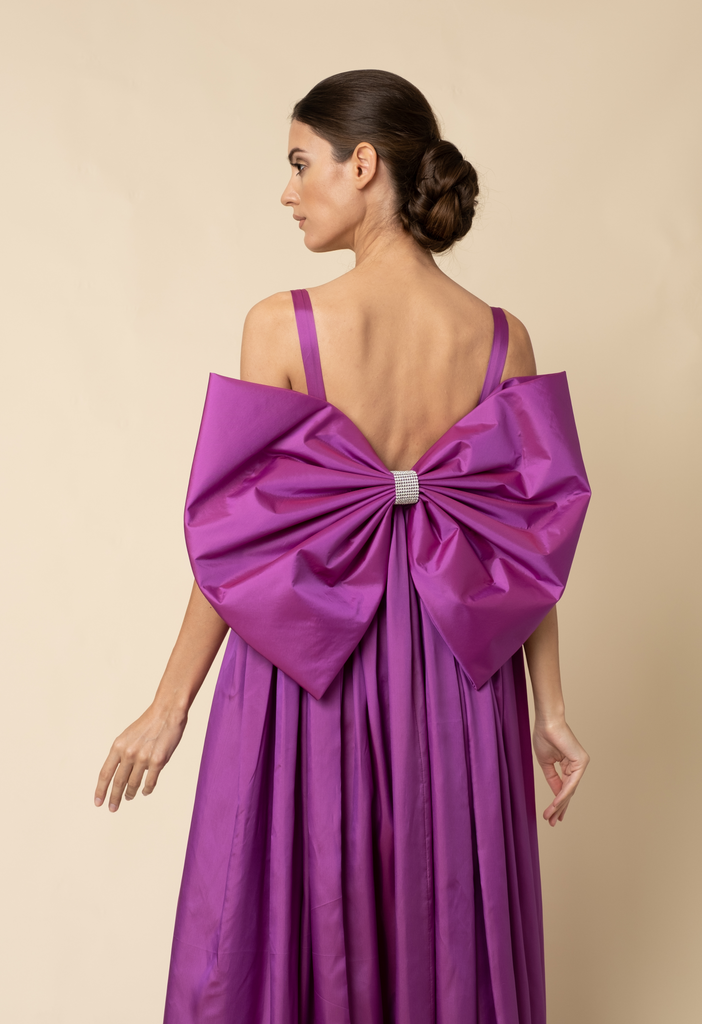 Purple bow gown