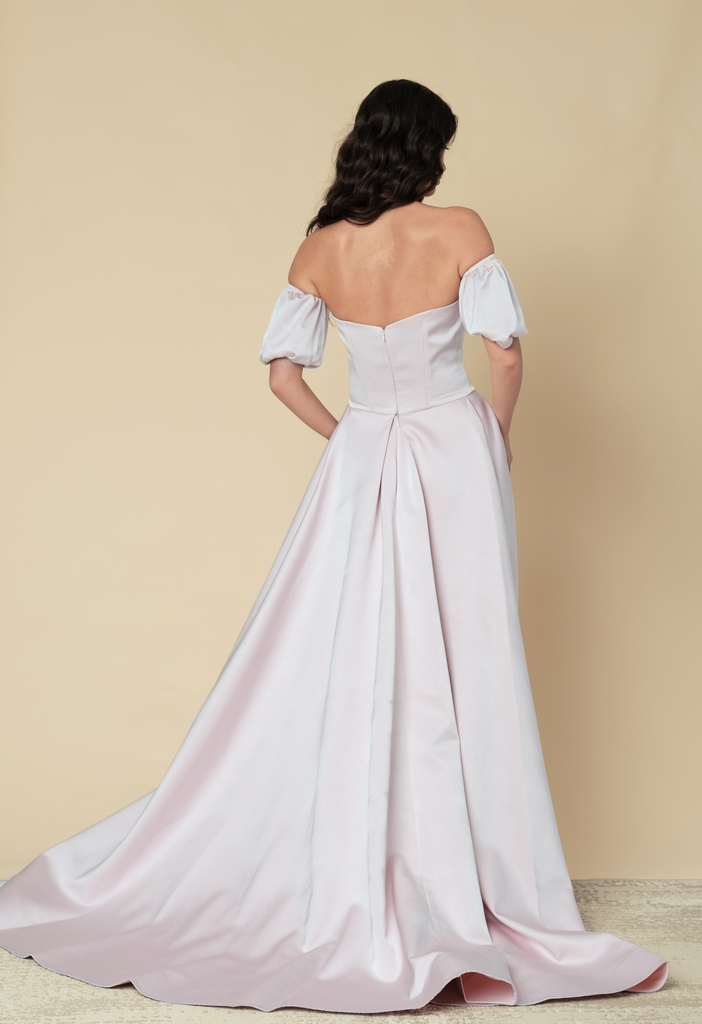 Off shoulder full gown