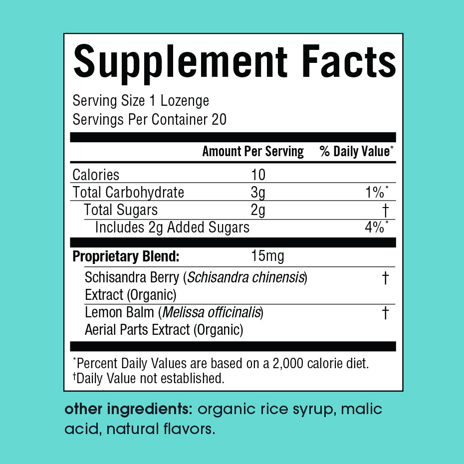 Focus Supplement Facts Panel
