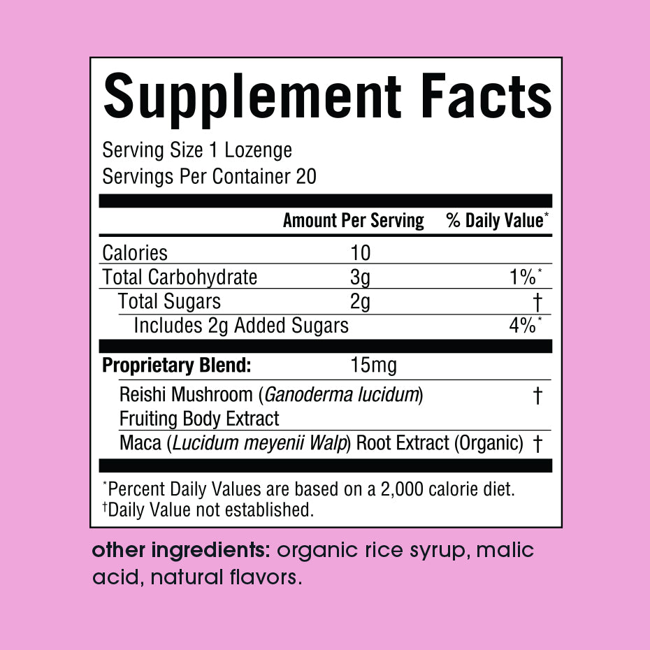 Mood Supplement Facts Panel