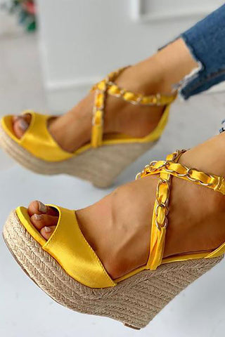 Women's Woven Wedge Sandals