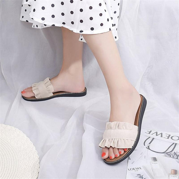 Fashion Wrinkle Plain Casual Slipper