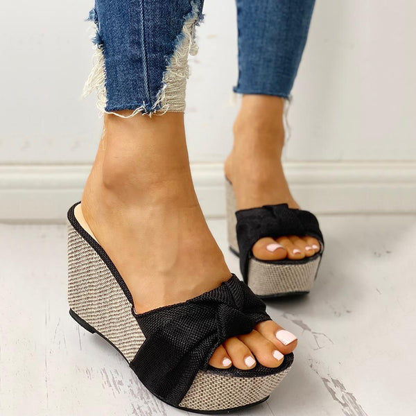 Women's Knotted Wedge Sandals