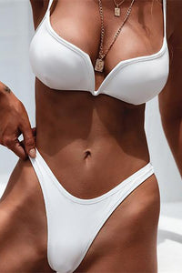 Sexy V-Shaped Steel Plate Bikini