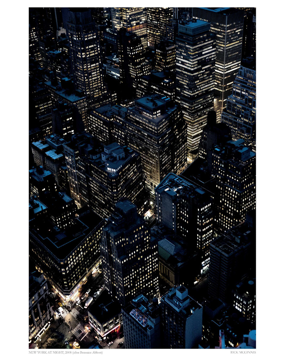 New York at Night (after Berenice Abbott), 2018