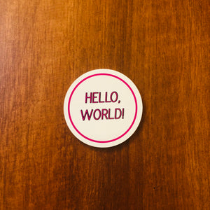 """Hello, World!"" Stickers 4-Pack"