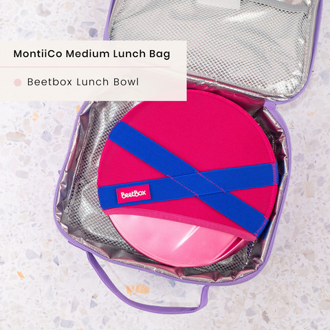 montiico medium bag with beetbox lunch bowl