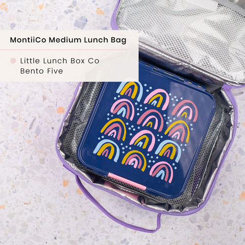 montiico medium bag with little lunchbox co bento 3 or 5
