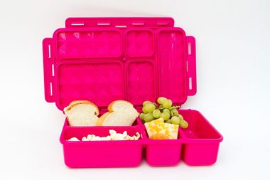GO GREEN  Original Lunch Box Set LARGE- pink Zig Zag