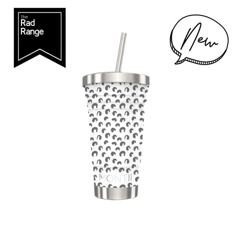 Montiico white leopard smoothie cup