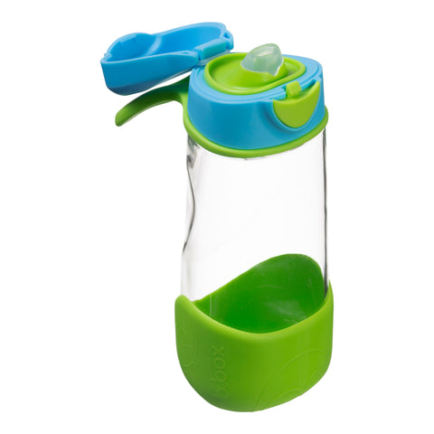 b box drink bottle sport spout blue oceanl