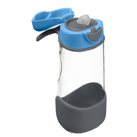 b box sports spout bottle blue slate