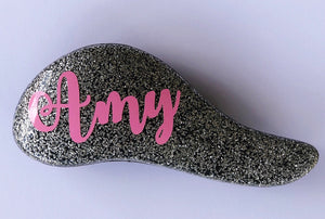 Personalised Mini Glitter Hair Brush - Silver
