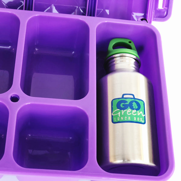 GO GREEN  Original Lunch Box Set LARGE purple Magical Sky Unicorn