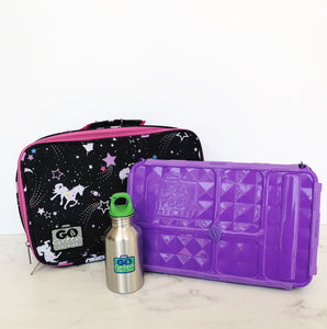 GO GREEN  Original Lunch Box Set LARGE- Magical Sky Unicorn