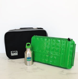 GO GREEN  Original Lunch Box Set LARGE - Black Stallion