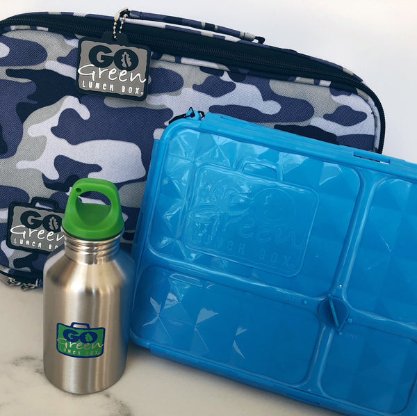 go green large set blue lunchbox camo