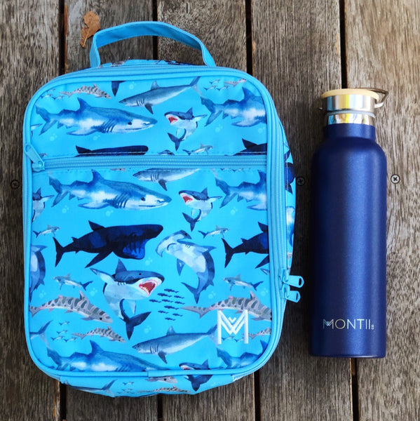 montiico insulated lunchbag shark