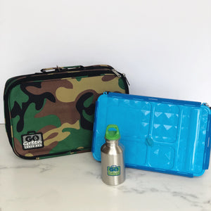 go green large lunchbox set camo