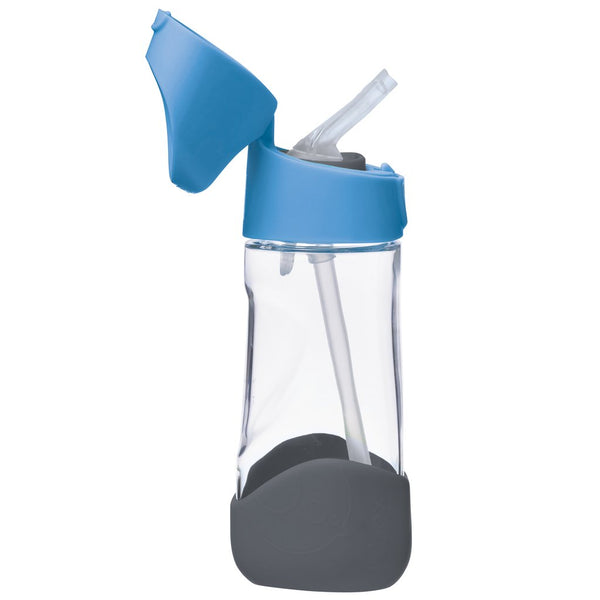 b box tritan drink bottle blue slate