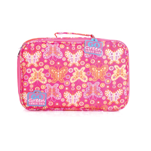 go green large set pink bento butterfly