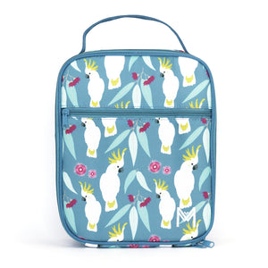 montiico insulated lunchbag cockatoo