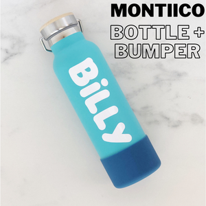 Label to fit - MontiiCo Bottle With Bumper - Standard Colour