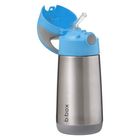 b box insulated drink bottle blue slate