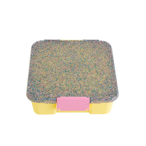 little lunchbox co bento 5 yellow glitter