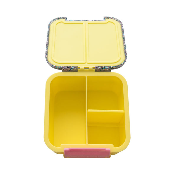 little lunchbox co bento 2 yellow glitter