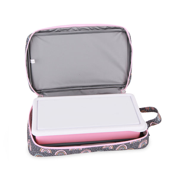 love mae plain pink lunchbox