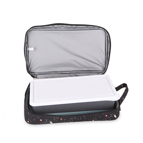 love mae plain charcoal lunchbox