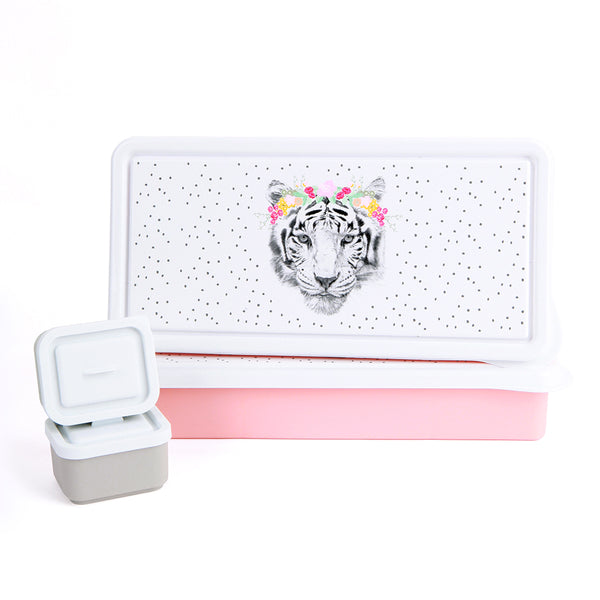 Love Mae - Floral Tiger Lunch Box
