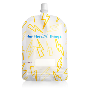 Sinchies 150ml Reusable Food Pouches - Lightning Bolts 10PK