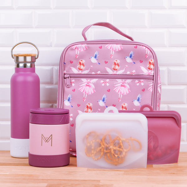 montiico pack and snack bags rose