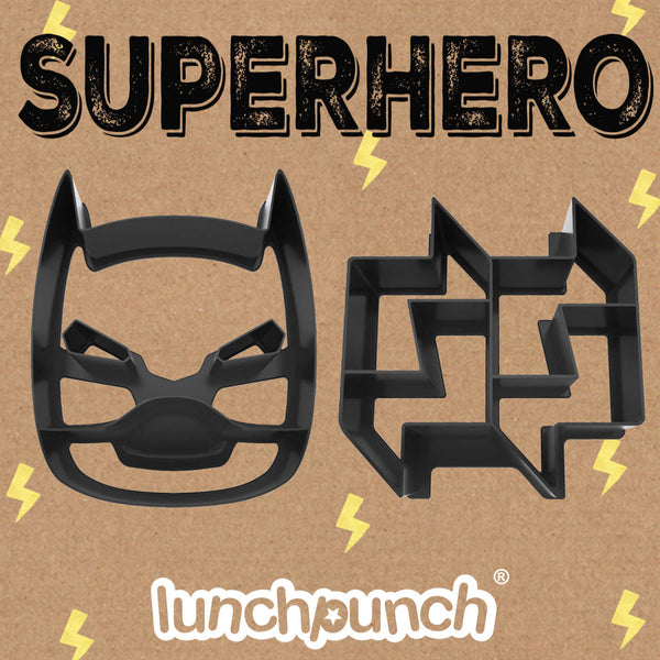 superhero batman lunch punch sandwich cutter