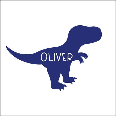 Premium Colour Custom Name Label - T-REX