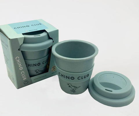 chino club babychino cup blue dinosaur