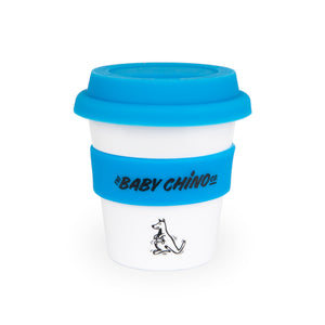 the baby chino co blue kangaroo babychino cup