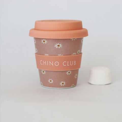 chino club bamboo baby chino cup pink daisys