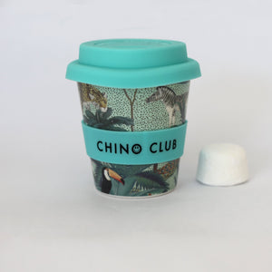 chino club bamboo baby chino cup jungle teal