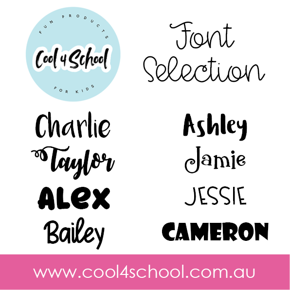 Round Personalised Name Label 6.5cm