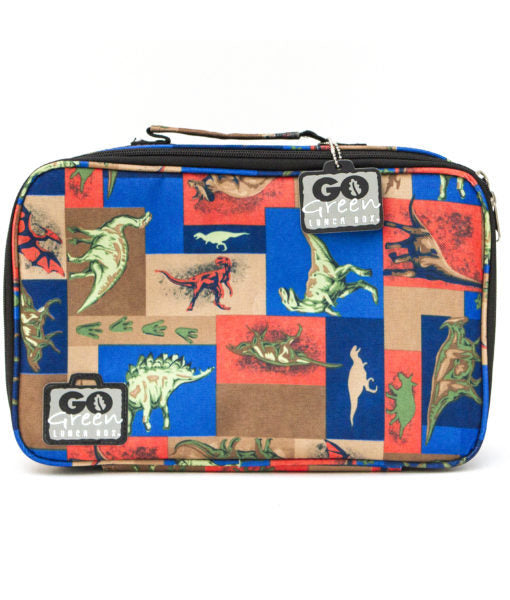 go green large set blue lunchbox jurassic dinosaurs