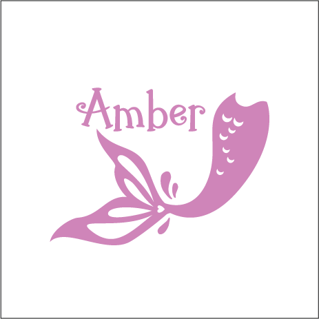 Premium Colour Custom Name Label - MERMAID