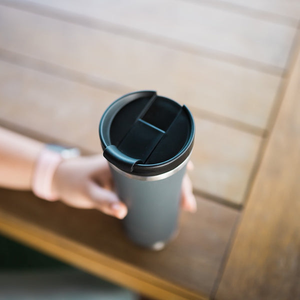 MontiiCo Hot Stuff Reusable Coffee Cup- GREY
